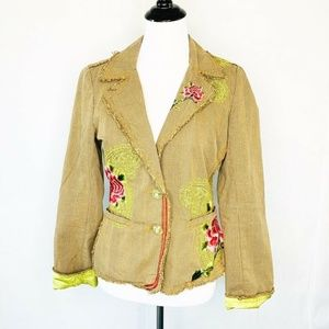 Johnny Was 3J Workshop Paisley Rose Blazer S